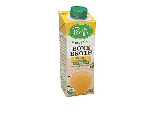 Pacific Foods Organic Bone Broth, Original Chicken, 8-Ounce Cartons, 12-Pack