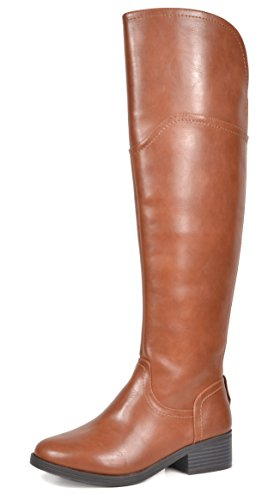 TOETOS Women's Hope Tan Over The Knee Riding Boots Size 9 M US (Riding Boots For Juniors)