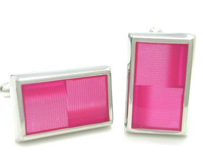 - APEX Hot Pink Enamel Cufflinks with Gift Box
