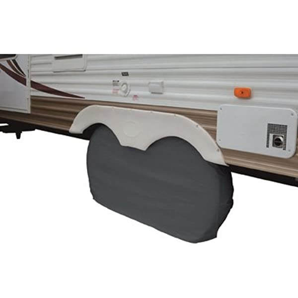 """White Dual Axle RV Trailer Wheel Covers 1pk Up to 27/"""" Inch Tires Dumble Camper Wheel Cover Trailer Wheel Protector"""