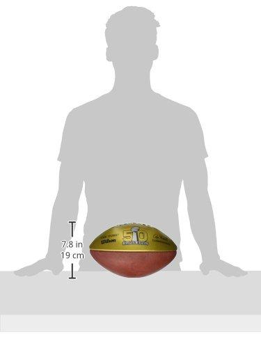 WTF1180ID50 Brown//Gold Sportsman Supply Inc Wilson Golden Anniversary Super Bowl Commemorative Football