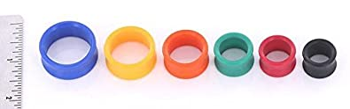 Painful Pleasures Yellow PROPYLUX Double Flare Plugs from 5//8 up to 1-5//8 Price Per 1