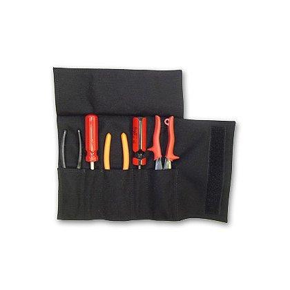 TheFireStore Firefighter 5 Pocket Nylon Tool Roll - Black