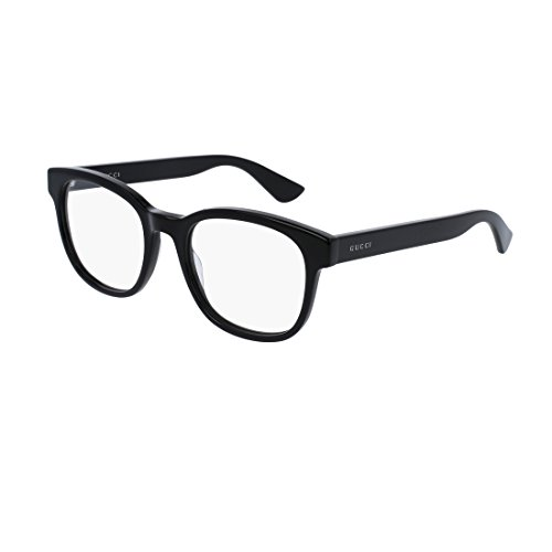 Gucci GG 0005O 005 Black Plastic Square Eyeglasses - Womens Gucci Frames Glasses