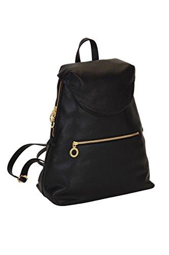Genuine Italian Leather Bella Backpack - Lauren Cecchi New York - Electric Blue Interior - Stylish Designer Bag With Adjustable Shoulder Straps by Lauren Cecchi New York