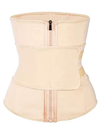 Wonder-Beauty Waist Cincher Trimmer Waist Trainer Corset Body Shaper Belt Sport Girdle Weight Loss - - US 0-2(S)