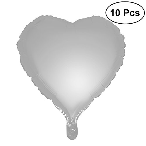 TOYMYTOY Pack of 10 Heart Shape Foil Balloons Wedding Birthday Party Decoration,18