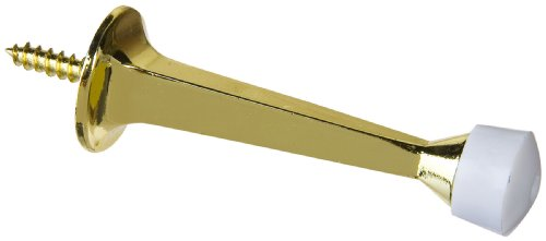 Stanley Hardware S826-008 BB8022 Solid Doorstop in Polished Brass -