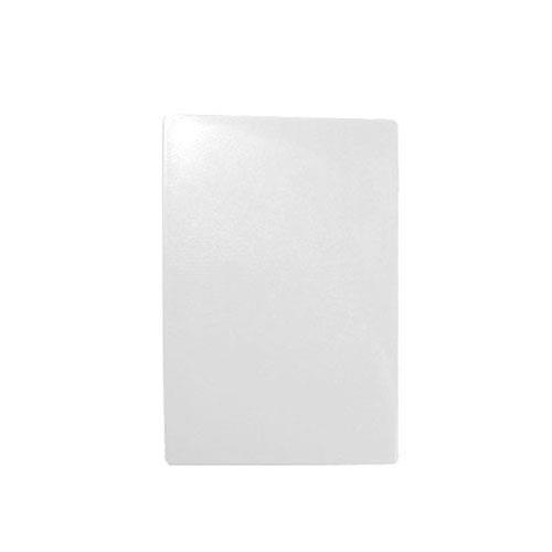 TableCraft Products CB1824WA Polyethylene Cutting Board, 18'' x 24'' x 1/2'', White (Pack of 6)