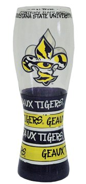 (Game Day Outfitters NCAA LSU Tigers Drinkware Pilsner Glass, One Size/24 oz, Multicolor)