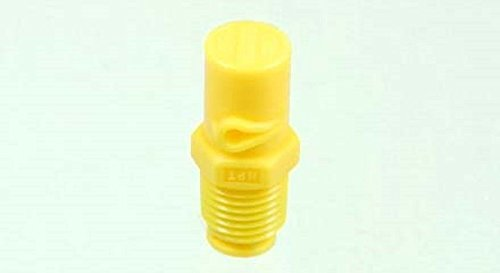 TeeJet 1/4XP20R-VP XP BoomJet Boomless Flat Spray Nozzle, Poly - Yellow - Right Spray from TeeJet