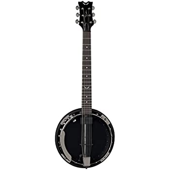 Dean BW6CEBC Backwoods 6 Banjo with Pickup, Black Chrome