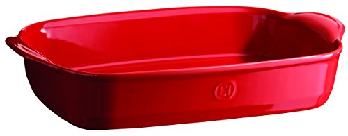 Emile Henry 349654 France Ovenware Ultime Rectangular Baking Dish, 16.5 x 10.6, Burgundy