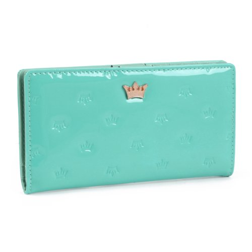 Embossed Clutch Wallet (Damara Womens Crown Embossed Slim Card Card Holder Cases Clutch)