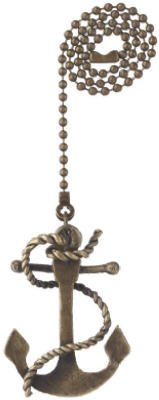 Westinghouse 7764400 Sea Anchor With Antique Brass Finish Pull Chain