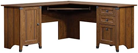 Sauder Carson Forge Corner Computer Desk, Washington Cherry finish