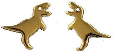 Dielay Dino Boucles doreilles pour femme en argent sterling 925 Dor/é 7 mm