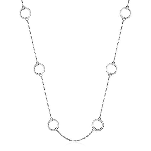 Sterling Silver Circle Connectors (925 Sterling Silver Karma Station Necklace)
