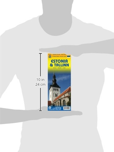 Estonia 1:400,000 & Tallinn 1:8,000 Travel Map