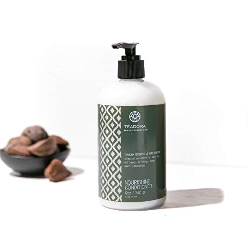 Teadora Sulfate-Free Conditioner, Vegan, Argan Cupuacu Acai Buriti, Gentle, Best for Damaged, Frizzy, Color and Keratin Treated Hair, Moisturizing Conditioner, All Hair Types