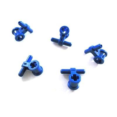 """'Lot de 5Lego Technic """"pneumatique Tuyau connecteur en bleu."""