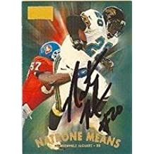 Natrone Means Jacksonville Jaguars 1997 Skybox Premium Autographed Card - Awesome Autograph. This item comes with a certificate of authenticity from Autograph-Sports. Autographed