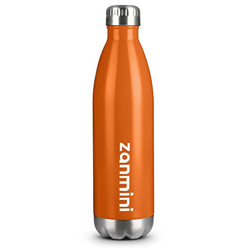 zanmini Stainless Steel Vacuum Insulated Water Bottle Leak-Proof Double Walled Cola Shape Bottle, Keeps Drinks Cold for 12 Hours & Hot for 24 Hours for Outdoor Hiking & Camping