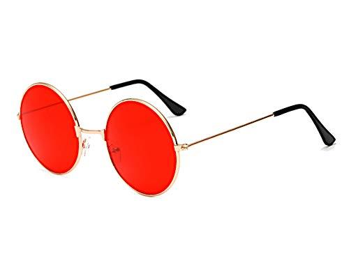 Chic-Net Gafas de Sol Unisex Redondas Gafas Hippie John ...