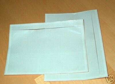 """7.5"""" X 5.5"""" Clear Adhesive Top Loading Packing List / Shipping Label Envelopes Pouches (200 Pk)"""