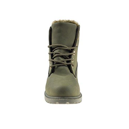 Fashion4Young Women's Boots Dark Olive 5aRmd2WoxB