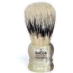 Omega Bristle Mix (Hog Bristle & Badger) Shaving Brush, Resin Handle