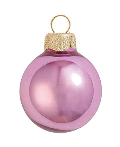 2ct Shiny Rosewood Pink Ball Christmas Ornaments 6