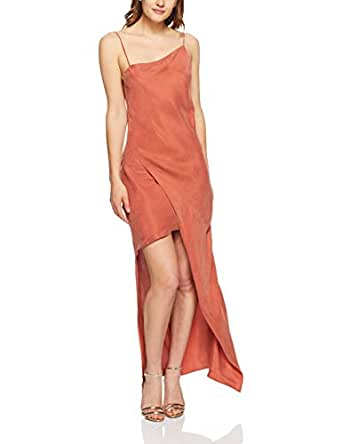 Winona Women's Silk Road Asymmetrical Dress, Copper, Small