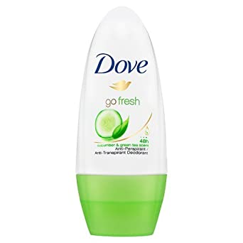 Oferta amazon: Dove - Desodorante Go Fresh Antitranspirante Roll On para Piel Sensible Té Verde y Pepino 0% Alcohol - 50 ml