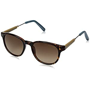 Tommy Hilfiger Women's Lad208 66396848 Round Sunglasses, Tortoise Yellow Blue/Brown Gradient, 50 mm