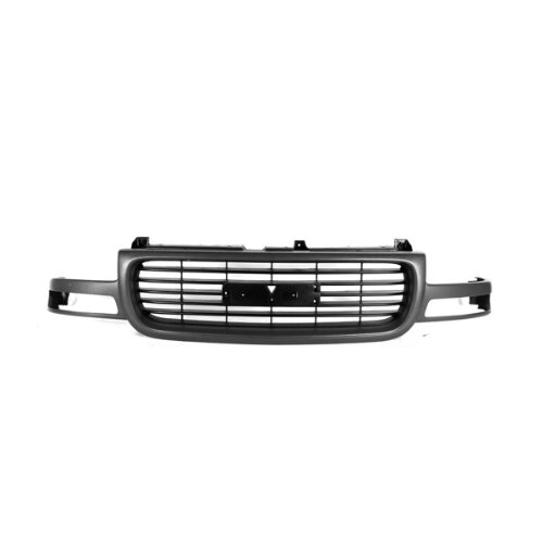 - CarPartsDepot, Front Grill Grille Gray Outer Frame Black Grid Insert Plastic Replacement, 400-19420 GM1200429 15706309/1504857