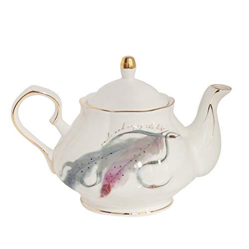 (Jomop Pottery Teapot Cool Gift For Tea Lovers Handmade Ceramic Teapot 4 Cups 850 ml (Light blue))