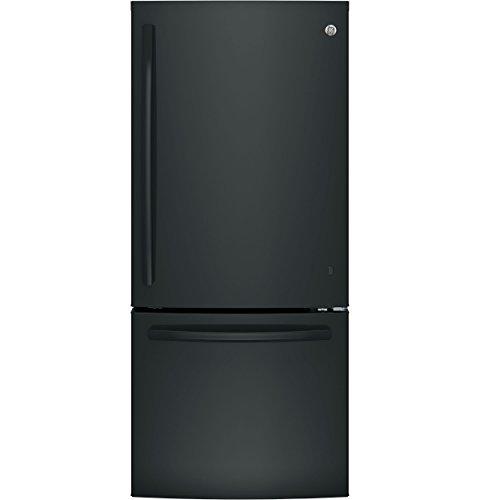 Ge Black Bottom Freezer Refrigerator - 1