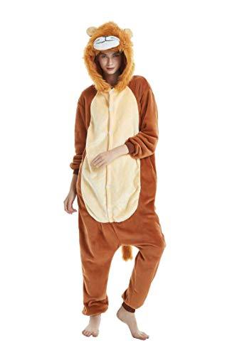 Adult Lion Onsie (NOUSION Licorne Unisex Adult Pajamas, Cosplay Christmas Unicorn Sleepwear Onesies)