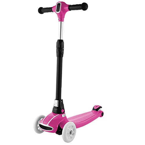 Dongchuan NEW 2018 Kick Scooter For Kids Christmas Gift Adjustable Height Foldable Kids Scooter with Flashing LED Light Wheels 4 PU Bearing Wheel Scooter for Child