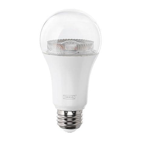 Ikea - Bombilla LED E26 950 lúmenes, intensidad regulable inalámbrico, espectro blanco transparente: Amazon.es: Iluminación