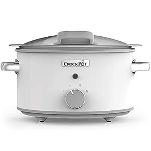 Crock-Pot DuraCeramic CSC038X Olla de cocción Lenta Manual 4,5 l, Blanco