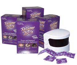 Retainer Brite Cleaning Tablets 1 year Supply + Sonic Cleaner by Retainer Brite