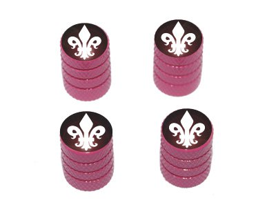 Graphics and More Fleur de Lis - Tire Rim Valve Stem Caps - Pink