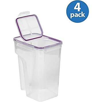 Snapware Airtight Plastic 22.8 Cup Fliptop Food Storage Container, 4 Pack