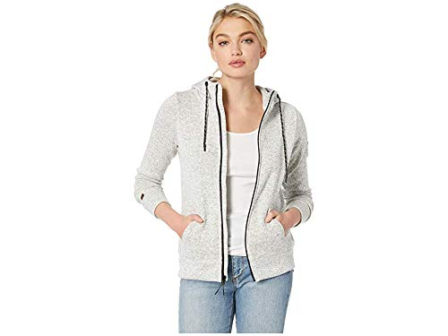 - Billabong Women's Boundary Zip-Up Fleece Top Grey Heather X-Large