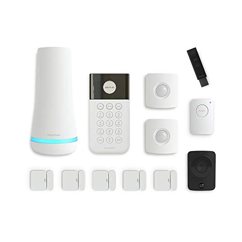 SimpliSafe 815017029728 New Generation Home Security System – 24/7 Monitoring – Home Protection – Wireless Home Security System – 12 Piece Alarm System with Security Camera (White, 12 Pieces)