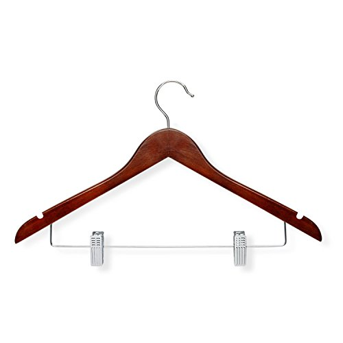 (Honey-Can-Do HNGT01210 12-Pack Basic Suit Hanger with Clips, ch, Cherry)