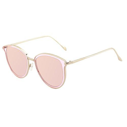 CGID MJ85 Rétro Polarisé Des lunettes de soleil Double Cercle Miroir UV400 Lentille Métal Cadre BvqCKC
