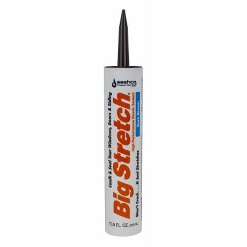 Sashco 10008 2 Pack 10.5 oz. Big Stretch Acrylic Latex High Performance Caulking Sealant, Dark Brown